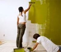 Как производится покраска стен водоэмульсионной краской