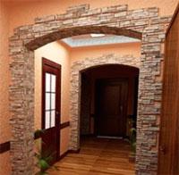 Варианты использования декоративного камня в интерьере коридора