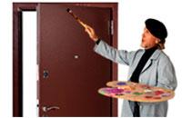 Инструкция по покраске железных дверей