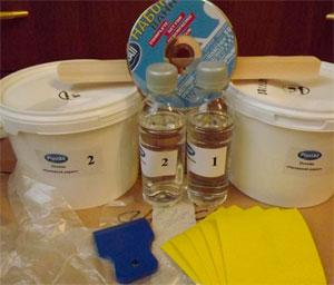 Из чего состоит набор для восстановления эмали ванны