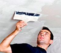 Как поштукатурить потолок своими руками