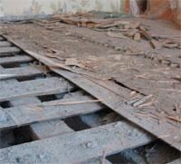 Как производится ремонт старого деревянного пола
