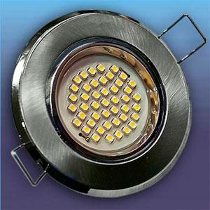 Встраиваемый точечный светильник со светодиодной лампой