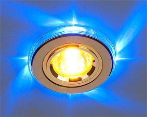 Встраиваемый в натяжной потолок точечный светильник