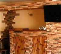 Как самому отделать стены декоративным камнем