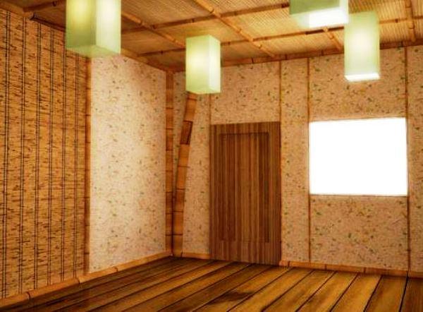 бамбуковое полотно в интерьере фото