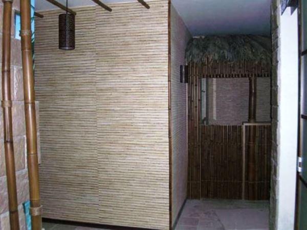 бамбуковые обои в интерьере фото