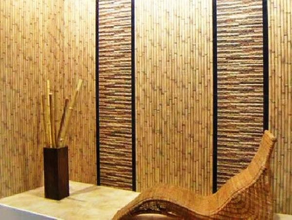 бамбуковые обои в интерьере прихожей фото 5