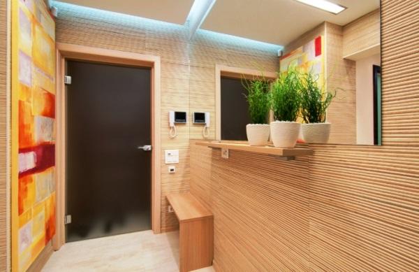 бамбуковые обои в интерьере прихожей фото 7