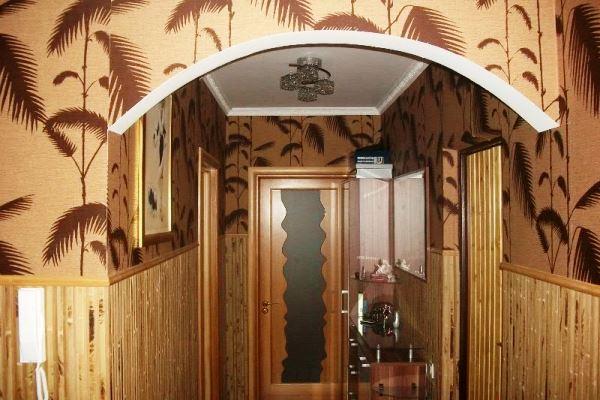 бамбуковые обои в интерьере прихожей фото 8