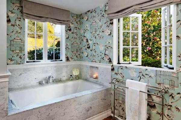 моющиеся обои для ванной комнаты фото