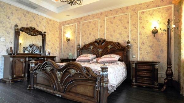бумажные обои для спальни фото 8
