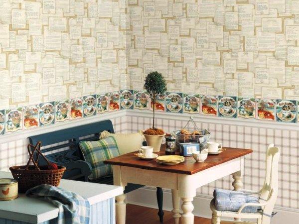 Бумажные обои на кухне: украшаем интерьер со вкусом