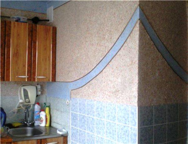 жидкие обои в интерьере кухни фото 2