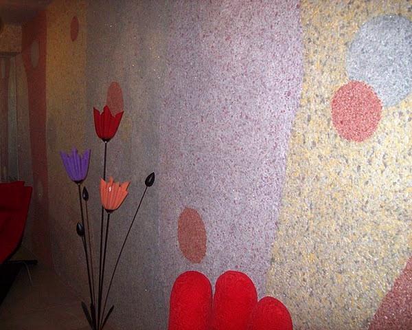 жидкие обои в коридоре фото
