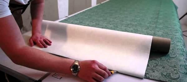 поклейка текстильных обоев