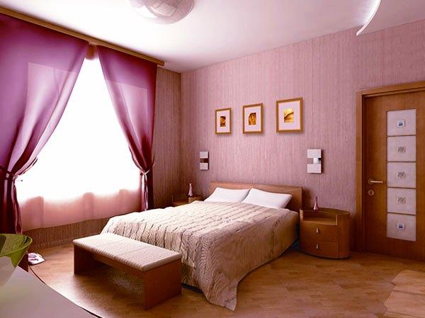 стеклообои в интерьере спальни