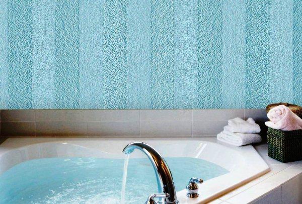 стеклообои в ванной фото