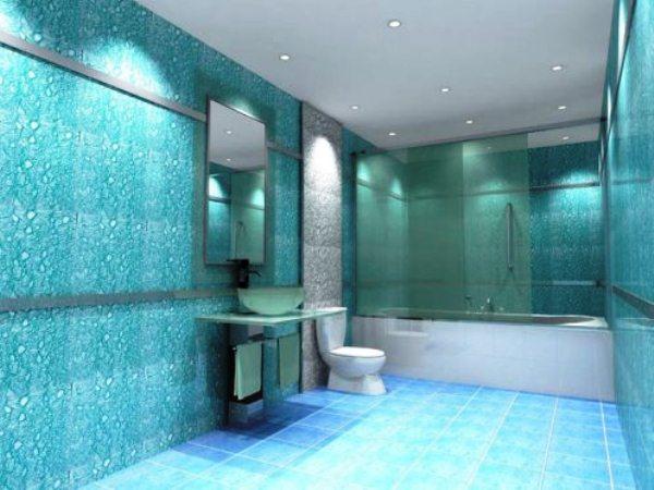 стеклообои в ванной комнате фото