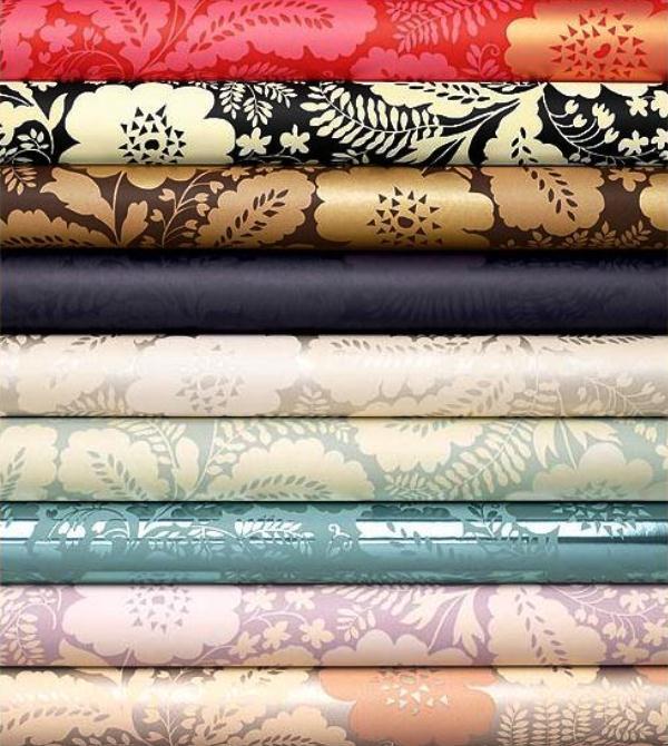 выбор текстильных обоев