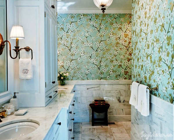 флизелиновые обои в ванной отзывы