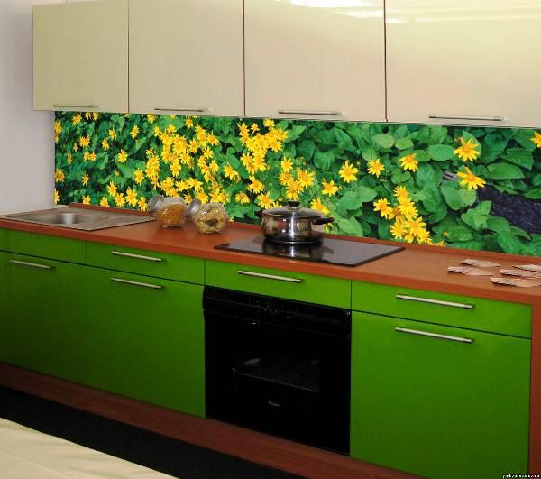 фотообои 3д на стену кухни