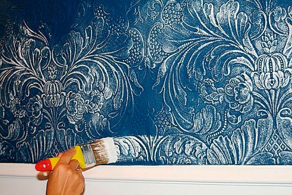 как покрасить линкрусту