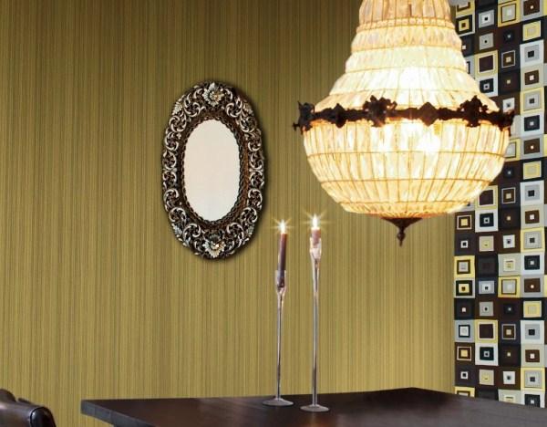 Виниловые обои в интерьере: 14 фото с вариантами декора