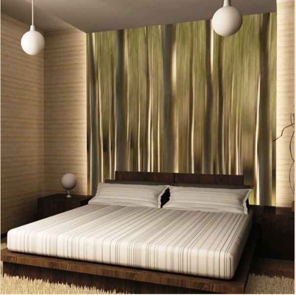 виниловые обои на флизелиновой основе в спальнях