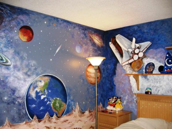 детские фотообои космос