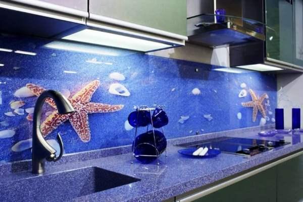 флуоресцентные фотообои для кухни