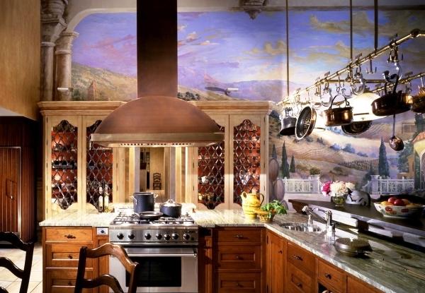 Фотообои для кухни: 25 фото самобытных интерьеров