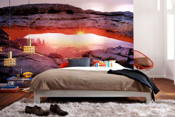 фотообои для спальни 3д