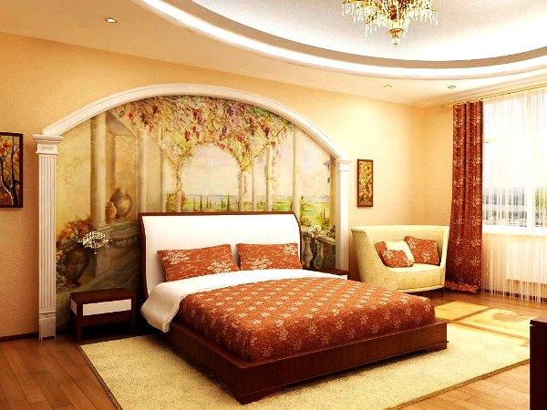 фотообои фрески в спальне