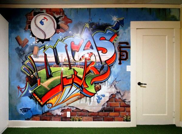 фотообои граффити на стену