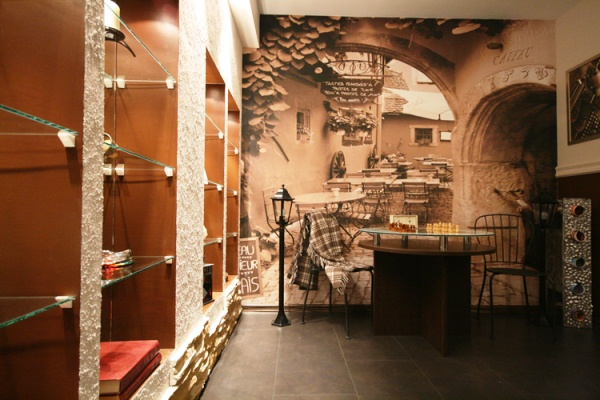 фотообои кафе в Париже