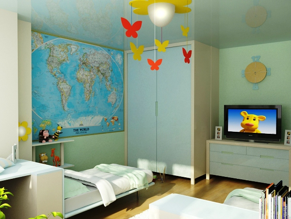 фотообои карта мира для детей