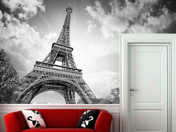 фотообои Париж черно-белые