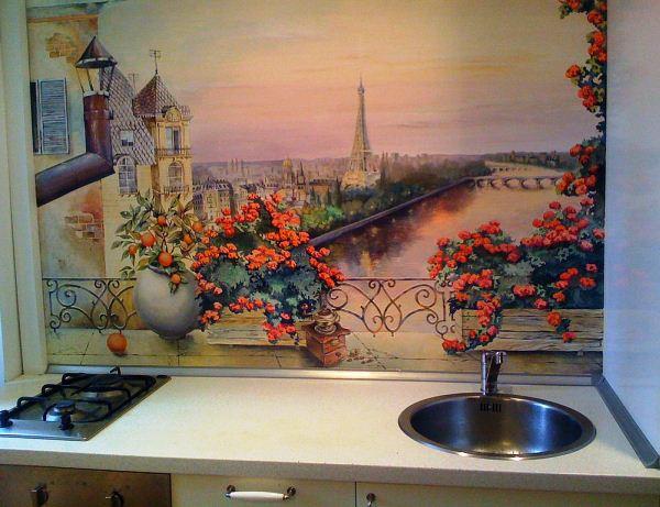фотообои Париж на кухне