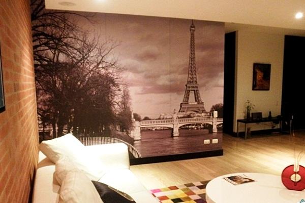 фотообои Париж в интерьере фото