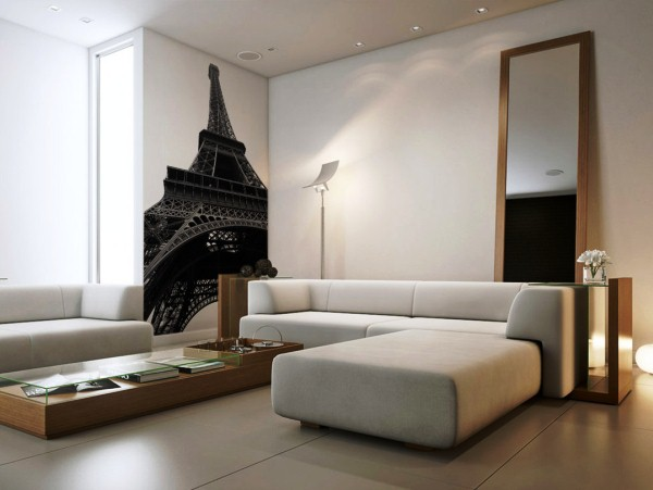 фотообои Париж в зале