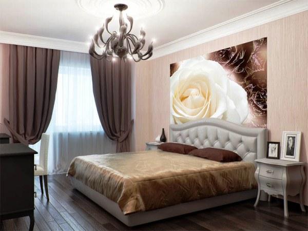 фотообои розы в спальне фото