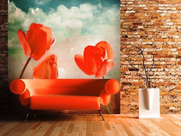 фотообои тюльпаны в интерьере фото