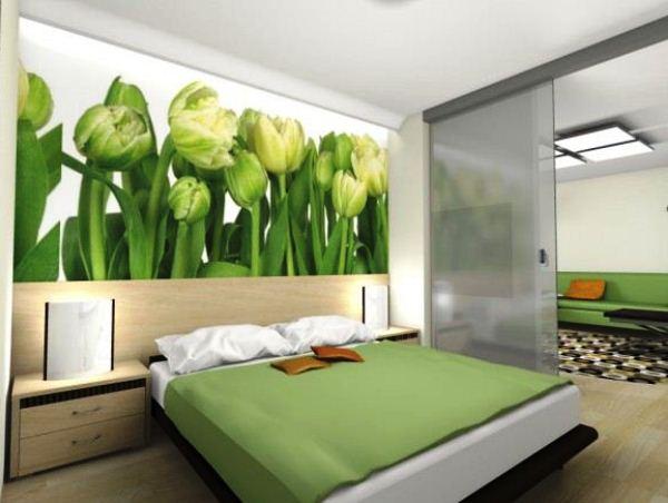 фотообои тюльпаны зеленые 2