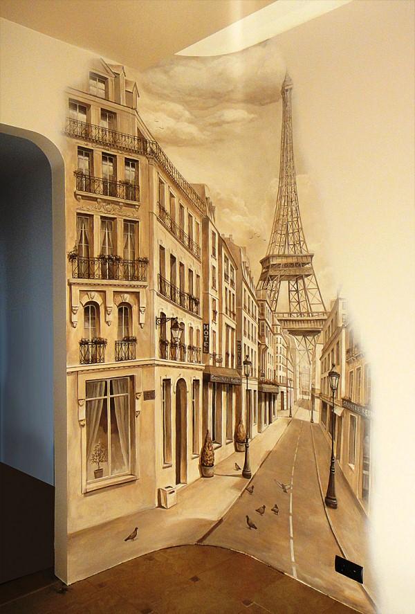 фотообои улочки Парижа