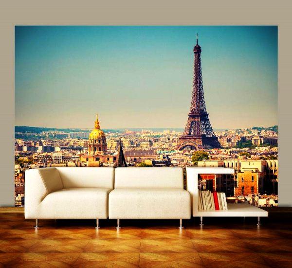 фотообои в интерьере Париж