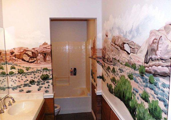 фотообои в туалете и ванной фото