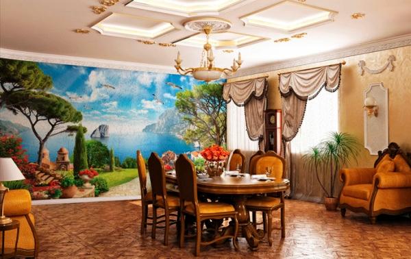 фрески фотообои в интерьере
