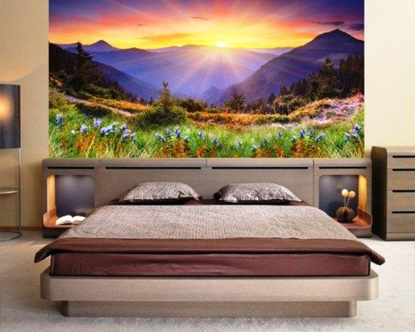 как выбрать фотообои для спальни