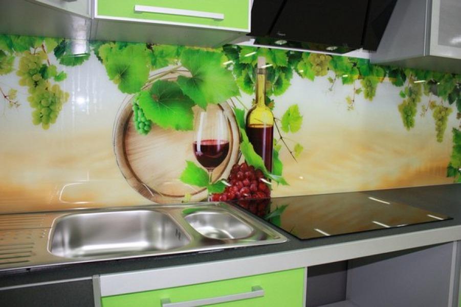 кухонные фотообои вино фрукты